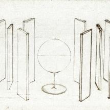 Grès, steel, mirrors mt. 4 x 2 x 2