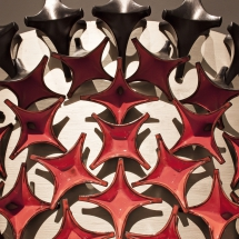 Glazed ceramic modules, detail