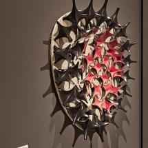Digital designed glazed ceramic, mt 1,20 x 1,50 x 0,20